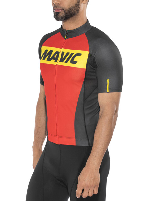 Mavic Cosmic Kortærmet cykeltrøje Herrer rød/sort